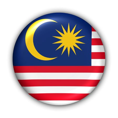 World Flag Button Series - Asia - Malaysia (With Clipping Path) Stock Photo - 374016