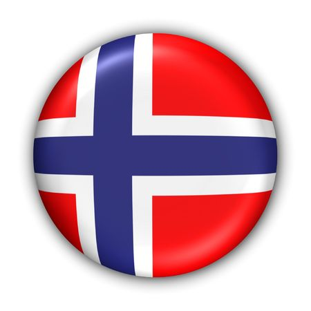 World Flag Button Series - Europe - Norway(With Clipping Path)