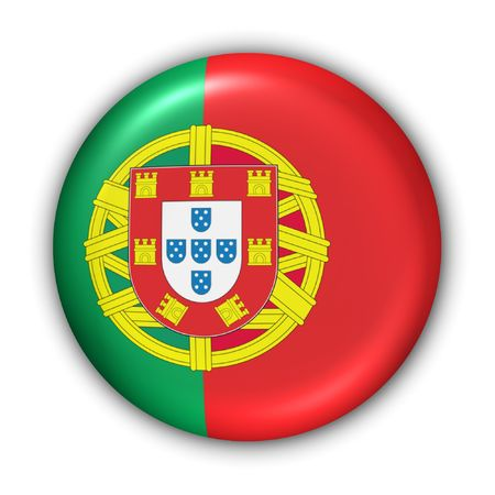 World Flag Button Series - Europe - Portugal(With Clipping Path) Stock Photo