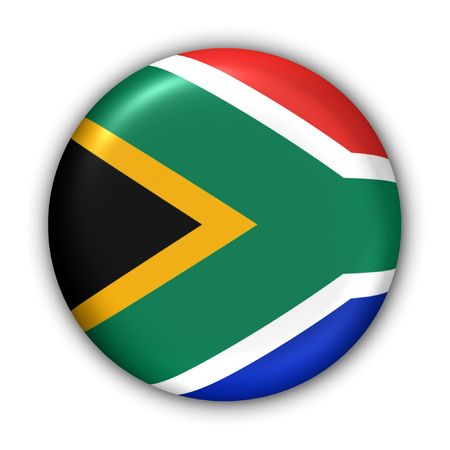 World Flag Button Series - Africa - South Africa (With Clipping Path)