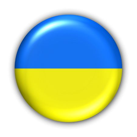 World Flag Button Series - Europe - Ukraine(With Clipping Path) Stock Photo