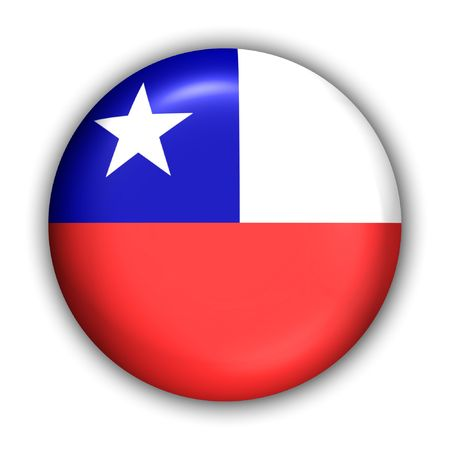 World Flag Button Series - South America - Chile (With Clipping Path)