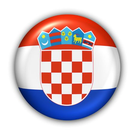 World Flag Button Series - Europe - Croatia(With Clipping Path)