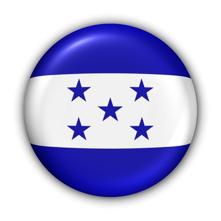 World Flag Button Series - Central AmericaCaribbean - Jamaica (With Clipping Path) Stock Photo