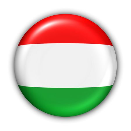 World Flag Button Series - Europe - Hungary(With Clipping Path) Stock Photo