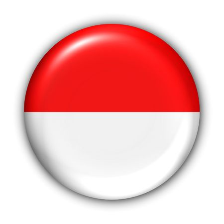 World Flag Button Series - Asia - Indonesia (With Clipping Path)
