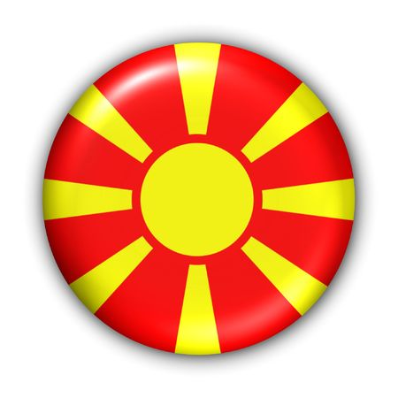 macedonia: World Flag Button Series - Europe- Macedonia (With Clipping Path)