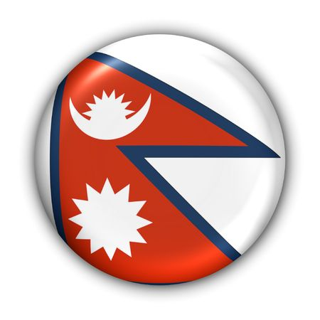 sherpa: World Flag Button Series - Asia - Nepal (With Clipping Path) Stock Photo