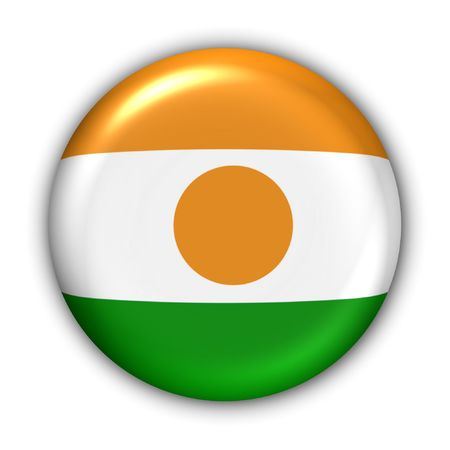 World Flag Button Series - Africa - Niger (With Clipping Path) Stock Photo