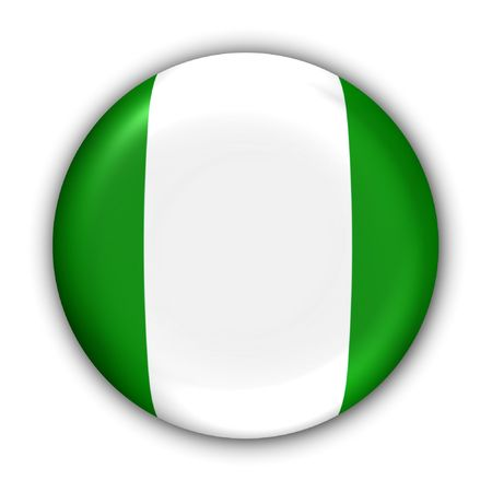 World Flag Button Series - Africa - Nigeria (With Clipping Path) photo