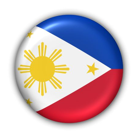 World Flag Button Series - Asia - Philippines (With Clipping Path) Banque d'images