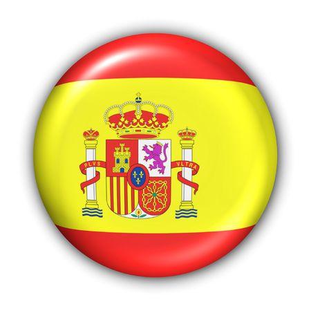 World Series Zgłoś Button - Europa - Hiszpania (Z Clipping Path) Zdjęcie Seryjne