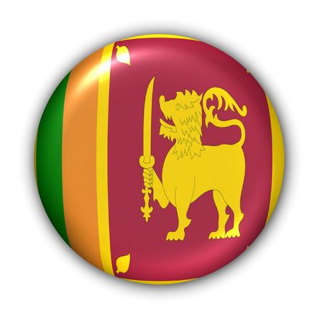 World Flag Button Series - Asia - Sri Lanka (With Clipping Path)