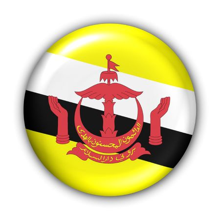 World Flag Button Series - Asia - Brunei (With Clipping Path) Banque d'images