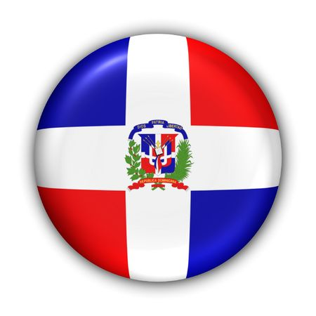 World Flag Button Series - Caribbean - Dominican Republic (With Clipping Path) Banque d'images