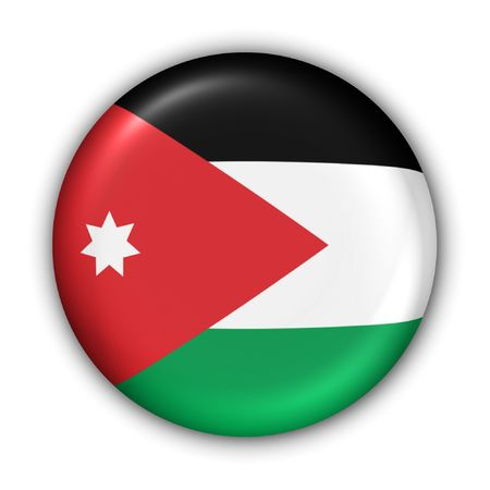 Świat Zgłoś Button Series - Azja  Bliski Wschód - Jordania (Z Clipping Path) Zdjęcie Seryjne