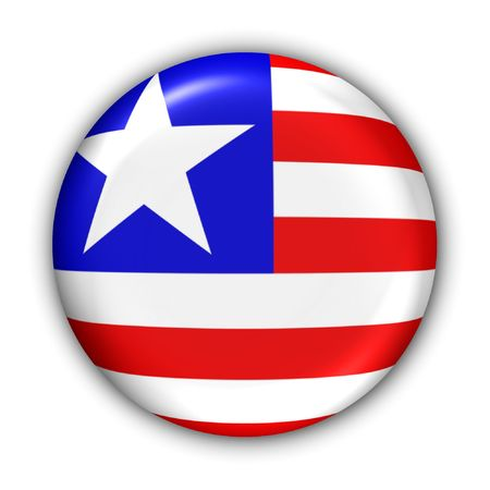 World Flag Button Series - Africa - Liberia (With Clipping Path) photo