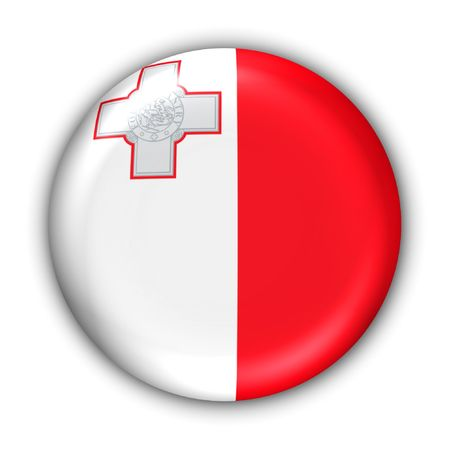 World Flag Button Series - Mediterranean - Malta (With Clipping Path) Banque d'images