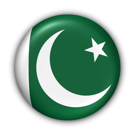 islamabad: World Flag Button Series - Asia - Pakistan (With Clipping Path) Stock Photo