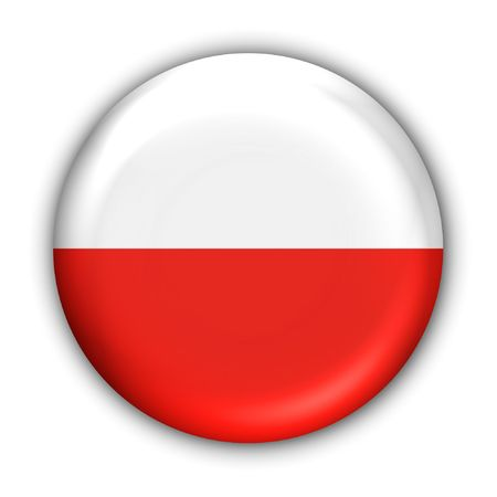 World Flag Button Series - Europe - Poland(With Clipping Path)