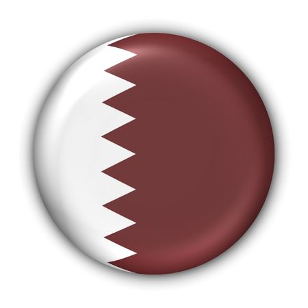 World Flag Button Series - Asia/Middle East - Qatar (With Clipping Path)