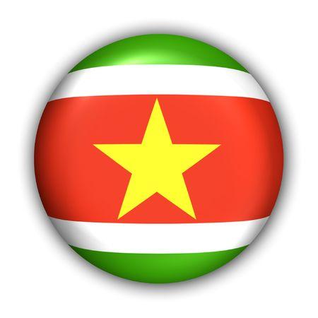 suriname: World Flag Button Serie - Zuid-Amerika - Suriname (Met Clipping Path)