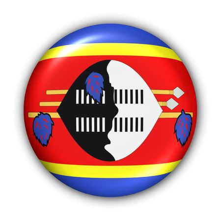 World Flag Button Series - Africa - Swaziland (With Clipping Path) Banque d'images