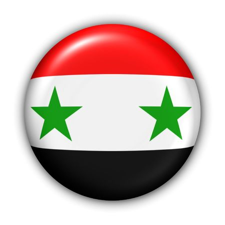 World Flag Button Series - Asia - Syria (With Clipping Path) photo
