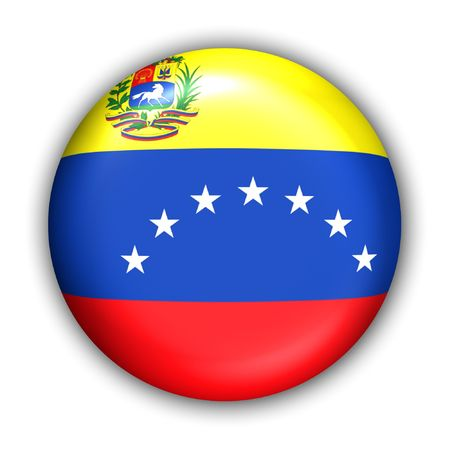 World Flag Button Series - South America - Venezuela (With Clipping Path)