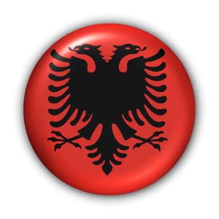World Flag Button Series - Europe - Albania (With Clipping Path) photo