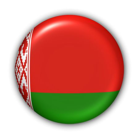 belarus: World Flag Button Series - Europe - Belarus (With Clipping Path) Stock Photo