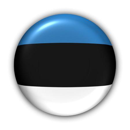 World Flag Button Series - Europ - Estonia (With Clipping Path) photo