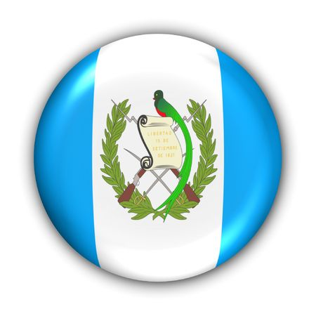World Flag Button Series - Central America/Caribbean - Guatemala (With Clipping Path)