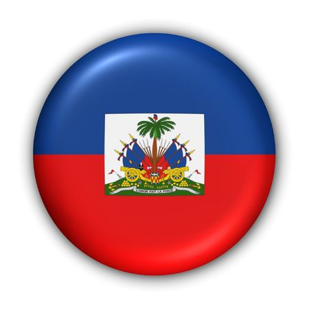 port au prince: Bot�n de la Serie Mundial Bandera - Am�rica Central y Caribe - Hait� (Con Clipping Path)