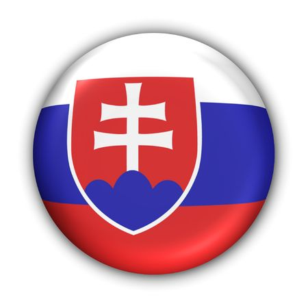 World Flag Button Series - Europe - Slovakia (With Clipping Path) Stock Photo