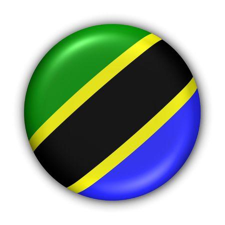 World Series Zgłoś Button - Afryka - Tanzania (Z Clipping Path) Zdjęcie Seryjne
