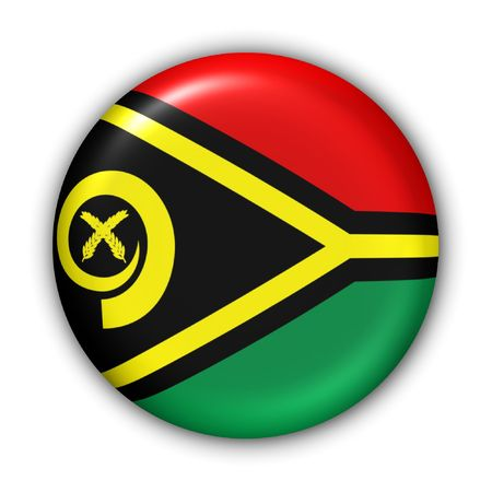 oceania: World Flag Button Series - Oceania - Vanuatu (With Clipping Path) Stock Photo