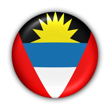 antigua: World Flag Button Series - Caribbean - Antigua and Barbuda (With Clipping Path)