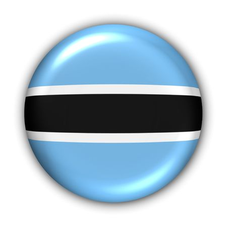 botswana: World Flag Button Series - Africa - Botswana (With Clipping Path)
