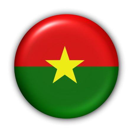 World Flag Button Series - Africa - Burkina Faso (With Clipping Path)