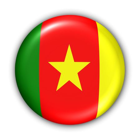 World Flag Button Series - Africa - Cameroon (With Clipping Path) Banque d'images