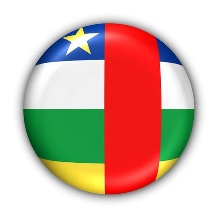 central african republic: World Flag Button Series - Africa - Central African Republic (With Clipping Path)
