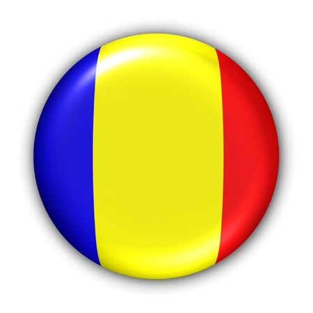 World Flag Button Series - Africa - Chad (With Clipping Path)