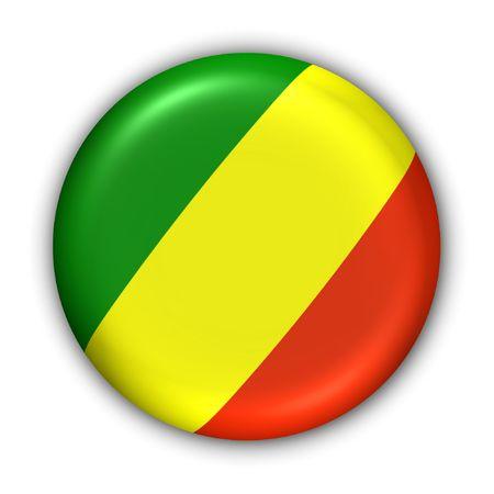 World Series Zgłoś Button - Afryka - Republika Kongo (Z Clipping Path) Zdjęcie Seryjne