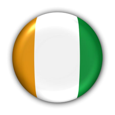 World Flag Button Series - Africa - Cote D Ivoire/Ivory Coast (With Clipping Path)