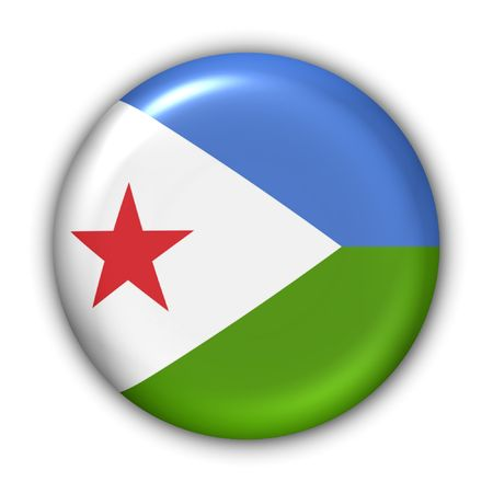 World Flag Button Series - Africa - Djibouti (With Clipping Path) photo