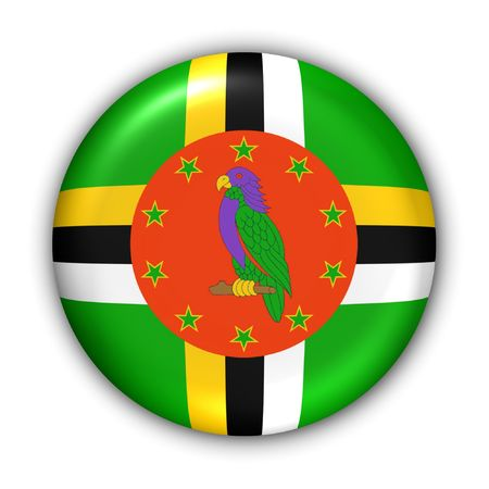 World Flag Button Series - Caribbean - Dominica (With Clipping Path) photo