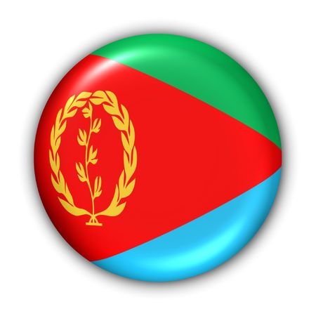 eritrea: World Flag Button Series - Africa - Eritrea (With Clipping Path)