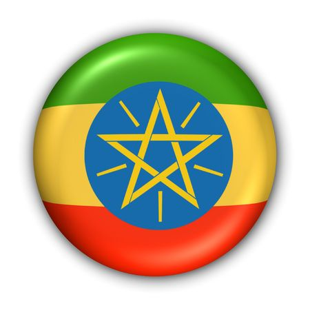 World Flag Button Series - Africa - Ethiopia (With Clipping Path)