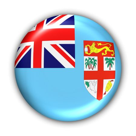 oceania: World Flag Button Series - Oceania - Fiji (With Clipping Path) Stock Photo